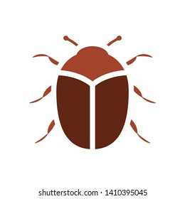 Carpet beetle icon. Pest control clip art isolated on white background
