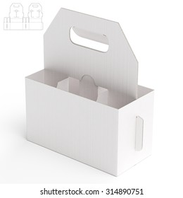 Carriage Box with Die Line Template