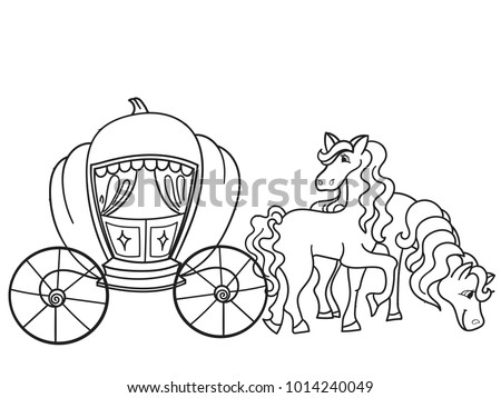Royalty Free Stock Illustration Of Carriage Pumpkin Horses Transport