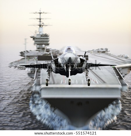 royalty free stock illustration of carrier jet takeoff advanced f 35