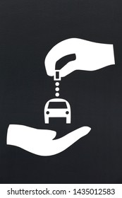 Carsharing station symbol on a panel