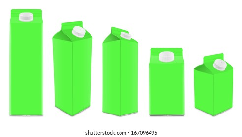 Cartons different sizes and views
