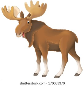 Cartoon animal - illustration for the children