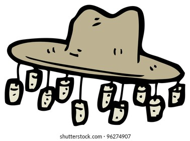 cartoon australian hat