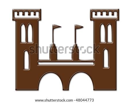 Cartoon Castle Chocolate Textures Frame Digital Stock Illustration ...