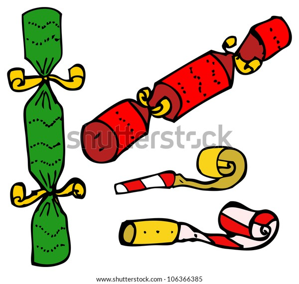 Christmas Crackers Cartoon.Cartoon Christmas Crackers Stock Illustration 106366385