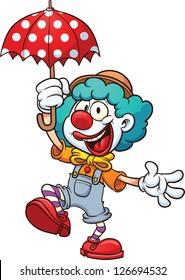 Cartoon clown.