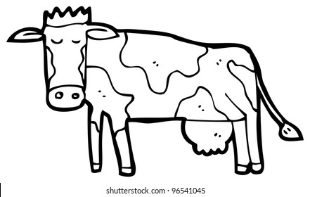 Cow Line Drawing Images Stock Photos Vectors