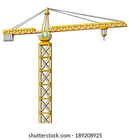 Cartoon crane - illustration for the children