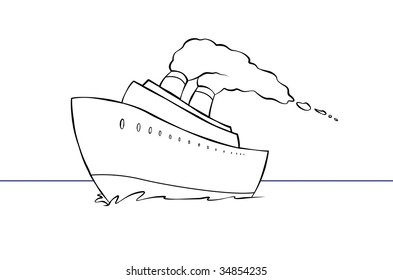 Cruise Ship Cartoon Images Stock Photos Vectors Shutterstock