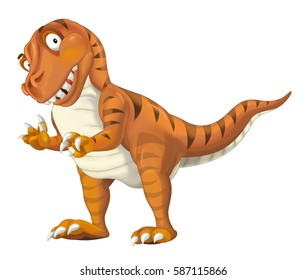 cartoon dinosaur tyrannosaurus illustration for children