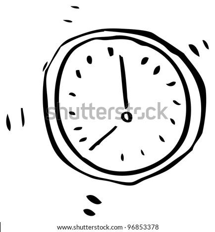 Royalty Free Stock Illustration Of Cartoon Doodle Clock Stock