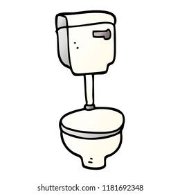 cartoon doodle closed toilet
