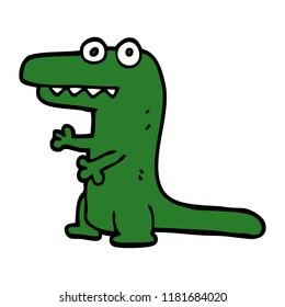 cartoon doodle crazy alligator