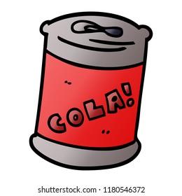 cartoon doodle fizzy drinks can