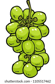Cartoon doodle grapes on a white background illustration