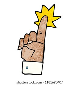 cartoon doodle pointing hand