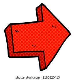 cartoon doodle red arrow