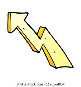 cartoon doodle rising arrow