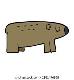 cartoon doodle of a sleepy bear