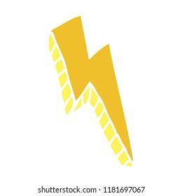 cartoon doodle thunder bolt