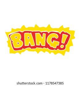 cartoon doodle word bang