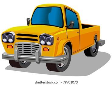 cartoon farm car