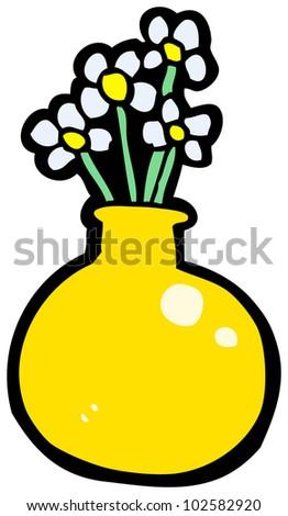 Cartoon Flowers Vase Stock Illustration 102582920 Shutterstock