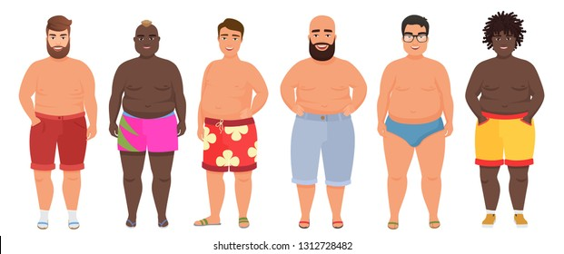 91c0a3614352a Cartoon funny fat man in underwear