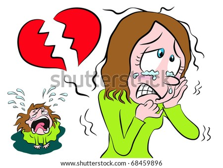 Royalty Free Stock Illustration Of Cartoon Girl Shedding Tears