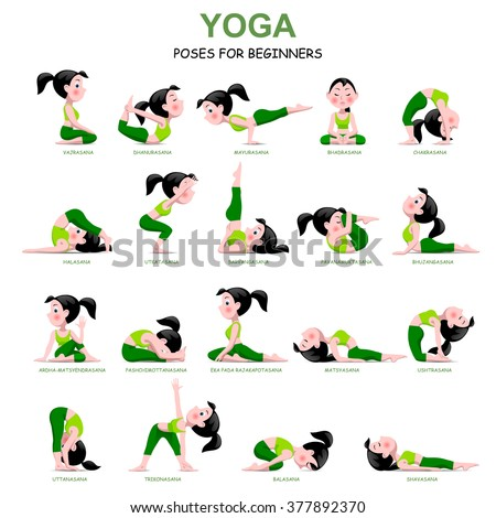 yoga poses yoga animated