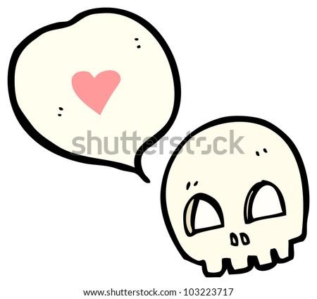 Royalty Free Stock Illustration of Cartoon Graffiti Style Skull