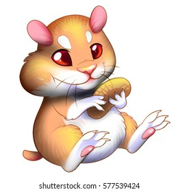 Cartoon hamster