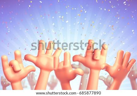 Cartoon hands at a