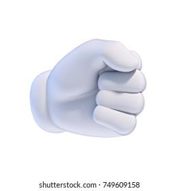 Cartoon hands set - fist 3d rendering