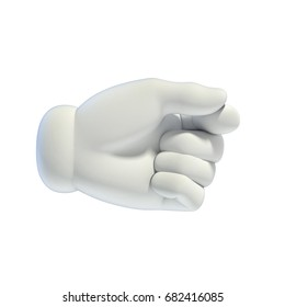 Cartoon hands set - holding something between fingers gesture 3d rendering