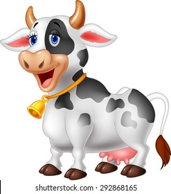 Cartoon Happy cartoon cow