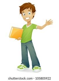 Cartoon Boy Brown Hair Images Stock Photos Vectors Shutterstock