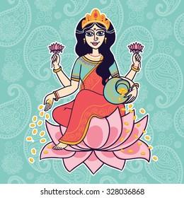 Goddess Lakshmi Images, Stock Photos & Vectors | Shutterstock