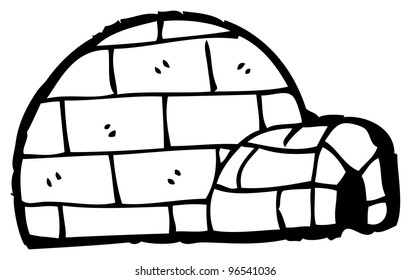 cartoon igloo