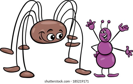 Image result for cartoon images of granddaddy long legs in the web