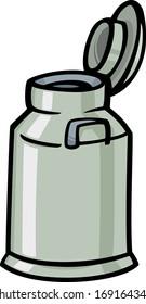 Cartoon Illustration of Milk Can or Churn Clip Art