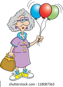 Old Lady Partying Cartoon Images Stock Photos Vectors Shutterstock