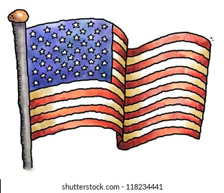 cartoon american flag images stock photos vectors shutterstock rh shutterstock com cartoon flags clip art cartoon flags of the world