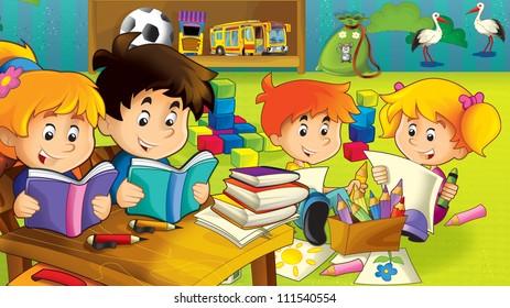 Niños En La Escuela Aprendiendo Gratis: Imágenes, fotos de stock y ...
