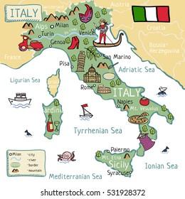 Bilder Stockfoton Och Vektorer Med Milan Cartoon Map Shutterstock