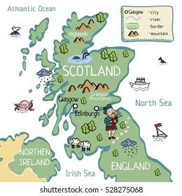 Cartoon map of Scotland