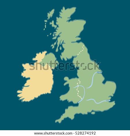 Royalty Free Stock Illustration Of Cartoon Map United Kingdom