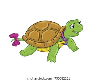 cartoon pet turtle