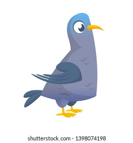 Cartoon pigeon bird  character illustration